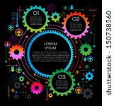 abstract background gears with... | Shutterstock .eps vector #150738560