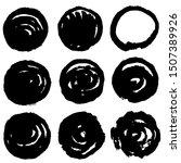 grunge post stamp set  circles. ... | Shutterstock .eps vector #1507389926