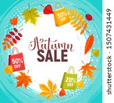 autumn sale background with...   Shutterstock .eps vector #1507431449