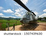 Huey Helicopter in Khe Sanh combat base  (DMZ, Quan Tri province, Vietnam)