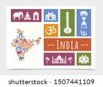 flat india travel composition... | Shutterstock .eps vector #1507441109
