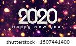bokeh sparkle christmas 2020...   Shutterstock .eps vector #1507441400