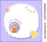 vector of baby shower card with ... | Shutterstock .eps vector #1507456040