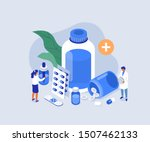 doctor pharmacist in drugstore... | Shutterstock .eps vector #1507462133