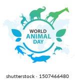 world animal day on october 4. ... | Shutterstock .eps vector #1507466480