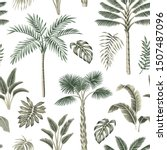 tropical vintage palm trees ... | Shutterstock .eps vector #1507487096