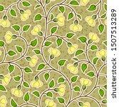 abstract grunge yellow flowers... | Shutterstock . vector #1507513289
