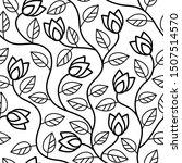 black abstract flowers seamless ... | Shutterstock . vector #1507514570