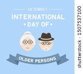 international day of older... | Shutterstock .eps vector #1507537100