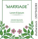 design banner marriage with... | Shutterstock .eps vector #1507543283