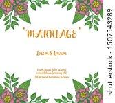 handwritten marriage in various ... | Shutterstock .eps vector #1507543289