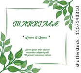 design banner marriage with... | Shutterstock .eps vector #1507543310