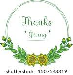 cute colorful flower frame for... | Shutterstock .eps vector #1507543319