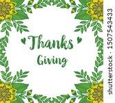 greeting card thanksgiving ... | Shutterstock .eps vector #1507543433