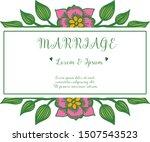 wallpaper card marriage... | Shutterstock .eps vector #1507543523