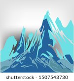 unusual mountains against a... | Shutterstock .eps vector #1507543730
