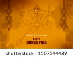 happy durga puja festival of... | Shutterstock .eps vector #1507544489
