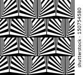 optical illusion in black and... | Shutterstock .eps vector #150754580
