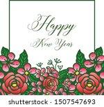 ornate of green leafy flower... | Shutterstock .eps vector #1507547693