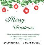 realistic green leafy wreath... | Shutterstock .eps vector #1507550483
