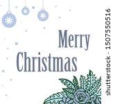 ornament decorative of blue... | Shutterstock .eps vector #1507550516