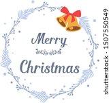 design for greeting card merry... | Shutterstock .eps vector #1507550549
