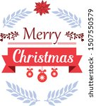 greeting card merry christmas ... | Shutterstock .eps vector #1507550579
