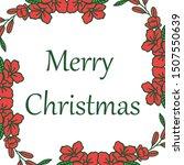 decorative border of red wreath ... | Shutterstock .eps vector #1507550639