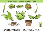 venus fly trap eat. catches a... | Shutterstock .eps vector #1507569716