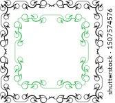 frame border design vector... | Shutterstock .eps vector #1507574576