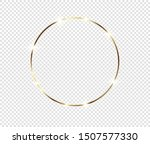 gold shiny glowing frame with... | Shutterstock .eps vector #1507577330