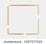 gold shiny glowing frame with... | Shutterstock .eps vector #1507577333
