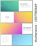 Stock vector the minimalistic vector illustration of the editable layout of headers banner design templates 1507583669