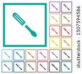 single screwdriver flat color... | Shutterstock .eps vector #1507594586
