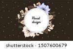 elegant frame with floral... | Shutterstock .eps vector #1507600679
