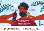 poster the best barbershop bear ... | Shutterstock .eps vector #1507606763