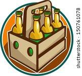 illustration of a 6 pack case... | Shutterstock .eps vector #150761078