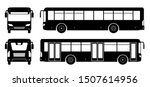 city bus silhouette on white... | Shutterstock .eps vector #1507614956
