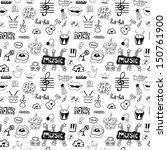 music symbols. seamless pattern | Shutterstock .eps vector #150761900