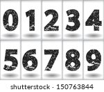 set of grunge numbers. vector... | Shutterstock .eps vector #150763844