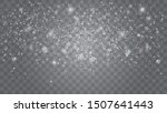 snow falling winter snowflakes...   Shutterstock .eps vector #1507641443