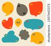 quote bubbles vector clip art.... | Shutterstock .eps vector #1507642373