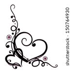 filigree ornament with hearts... | Shutterstock .eps vector #150764930