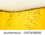 Beer Background With Bubble...