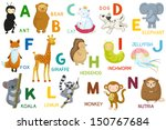 animals abc  letter a n.... | Shutterstock . vector #150767684