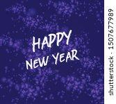 bokeh sparkle christmas 2020...   Shutterstock .eps vector #1507677989
