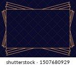 art deco frame. vintage linear... | Shutterstock .eps vector #1507680929