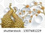 3d peacock wallpaper  3d... | Shutterstock . vector #1507681229