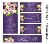 wedding set | Shutterstock .eps vector #150769550