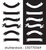 black and white ribbons | Shutterstock .eps vector #150770369